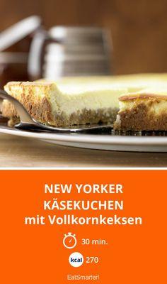 New Yorker Käsekuchen - mit Vollkornkeksen - smarter - Kalorien: 270 Kcal - Zeit: 30 Min.   eatsmarter.de
