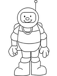 Astronaut kleurplaat beroep