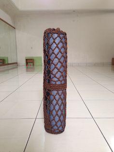Crochet mesh yoga mat bag