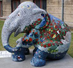 Title: Fragile Beauty Artist: José van Weert Location: Botanical Garden African Forest Elephant, Asian Elephant, Elephant Stuff, Elephas Maximus, City Events, Elephant Parade, Southeast Asia, Mammals, Dinosaur Stuffed Animal