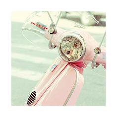Vespa - Oh that I could find one in exactly this shade of pink. I'm in love.