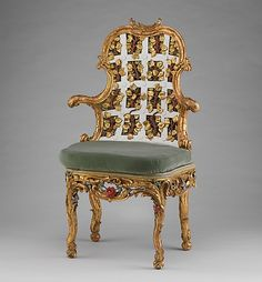 Armchairs. German. ca. 1761-68.  Metropolitan Museum of Art.  One of my favorites in the collection.
