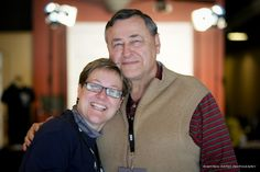 Festival organizer Cindy Hill with her father Roland Hill at Macon Film Festival Headquarters.