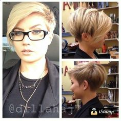 If I got my hair cut short ever again I would do this!