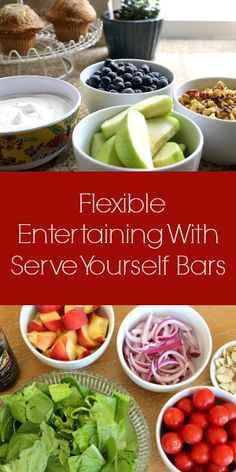 Flexible Entertaining With Serve Yourself Bars