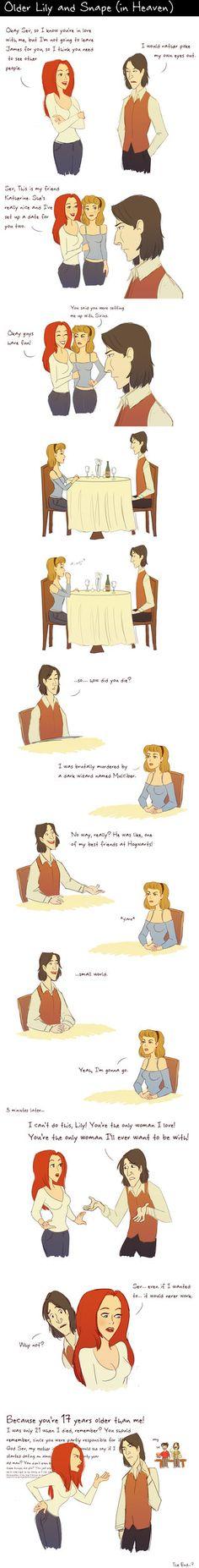 Older Lily and Snape by julvett on deviantART