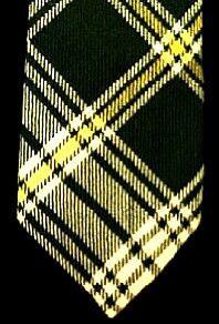 Vintage Scottish St. Patrick's Wool Plaid Tie