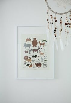 animal print and beaded dreamcatcher, via Elodie's Not-Pink Nursery My Room | Apartment Therapy