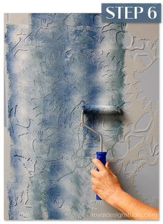 How-to create a stenciled fabric finish with a roller and Chalk Paint® decorative paint. Silk Road Suzani stencil from Royal Design Studio stencils.