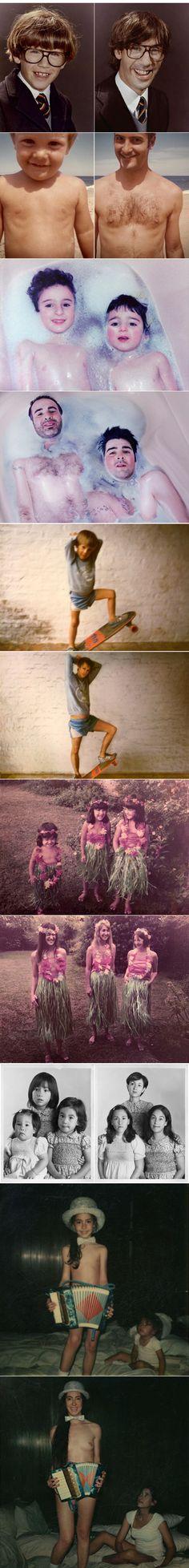 Tenemos que hacer esto.   retake old photos.