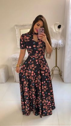 Women'S Floral Printed Maxi Dress Short Sleeve Casual Swing Long Maxi Dress With Belt Vintage Party Dress Plus Size Elegant Elegant Party Dresses, Vintage Party Dresses, Party Dresses For Women, Trendy Dresses, Short Sleeve Dresses, Casual Maxi Dresses, Casual Dresses Plus Size, Women's Fashion Dresses, Long Floral Maxi Dress