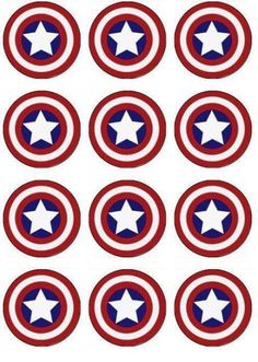 Captain America Edible Cupcake Toppers - ABC Edible Cake Art Captain America superhero birthday Edible Image for cupcake toppers. Yes you can EAT these cupcake toppers! No plastic toppers to throw away, no mess! DIY Birthday cake and cupcake Mais Batman Party, Superhero Birthday Party, Boy Birthday, Birthday Parties, Captain America Cupcakes, Captain America Party, Captain America Birthday Cake, Pastel Capitan America, Anniversaire Captain America