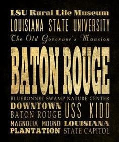 Baton Rouge's Attractions Wall Art Decoration