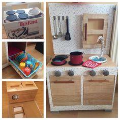 Kinderküche aus Pappkarton