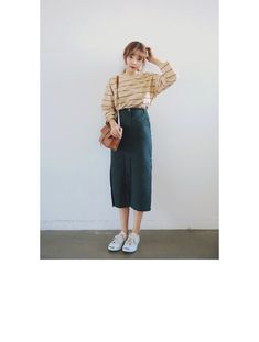 Image shared by bunnieisgood. Find images and videos on We Heart It - the app to get lost in what you love. Korean Fashion Trends, Korean Street Fashion, Korea Fashion, Asian Fashion, Daily Fashion, Modest Outfits, Skirt Outfits, Modest Fashion, Skirt Fashion