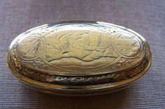 Online veilinghuis Catawiki: Geelkoperen tabaksdoos - Nederland - 18e eeuw