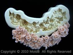 Mold Mould  for sugarcraft, Sugar Cake, Clay - special rose 2 #moldB