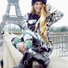 Scoop Long Sleeves T-shirt Casual Long Pant Camouflage Activewear  #fashion #shopaholic #party #outfits #fashionstyle #dresslover #fashionlover #mayyourfashion #womensfashion