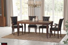Τραπεζαρία κλασική Άβελ Dinning, Decor, Furniture, Sofa, Table, Dinning Table, Home, Home Decor
