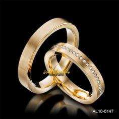 Alianças de casamento 4 mm de largura e 40 diamantes AL10-0147 4d569fb620