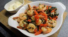 Stora räkor frästa i vitlök - Du i Fokus Shrimp, Meat, Beautiful, Red Peppers