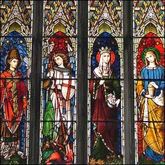 St Michael the Archangel, St Thomas of Villanova, St Mary Magdalene and St Elizabeth of Hungary