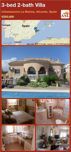 3-bed 2-bath Villa in Urbanizacion La Marina, Alicante, Spain ►€250,000 #PropertyForSaleInSpain