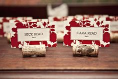 cork placecard holders (w/penny or button) via mintdesignblog /// cara3