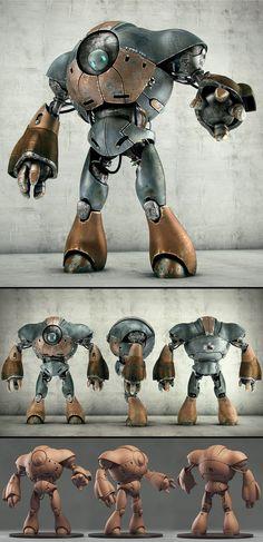 Robot by Victor Hugo Sousa (Ийм робот хийгээд рэндэр хийнэ... Монгол робот)