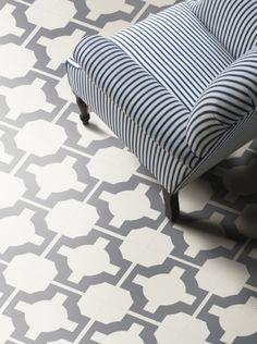 Parquet vinyl floor tile, in Charcoal. Flooring | Neisha Crosland