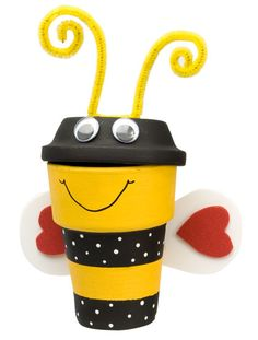 Cute Bee Pot. Perfect for my boys' school since they are the Busy Bees!