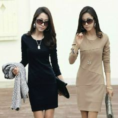 2013 Autumn Dress New Women's Full Sleeve Anti-wrinkle Cloth OL Elegance Silm Dresses PLUS SIZES XS - 5XL [Beauty Discovery] $11.68