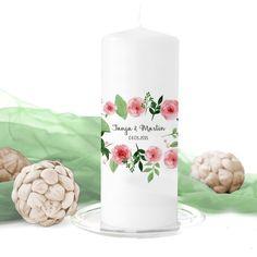 Hochzeitskerze 'Delicate Rose'