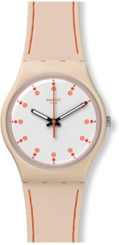 007292b4 Swatch GT106T Soft Day White Orange Analog Dial Pink Silicone Unisex Watch  NEW Swatch http: