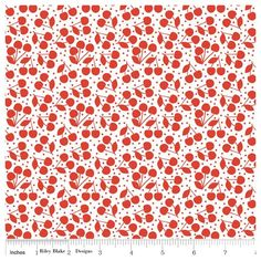 Tissu Lazy cherries red x 10cm
