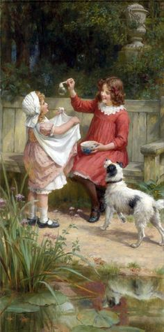 PAGINA. CON PINTURAS Y PINTORES PARA BUSCAR: https://es.pinterest.com/Pats6y/childhood-illustrations-vintage/ ....................................... George Sheridan Knowles