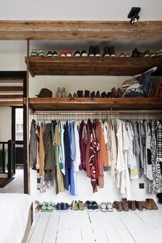 instead of closet/wardrobe? – – sweet home on tagesanzeiger.ch instead of closet/wardrobe? – – sweet home on tagesanzeiger. Style At Home, Ideas Armario, Brick Studio, Open Wardrobe, Sweet Home, Interior And Exterior, Interior Design, Home Interior, Closet Bedroom