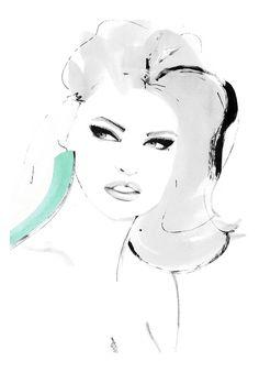 Kornelia Debosz. Fashion illustration on Artluxe Designs. #artluxedesigns