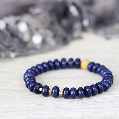 Benefits of Lapis Lazuli Lapis Lazuli Bracelet, Lapis Lazuli Jewelry, Sapphire Bracelet, Gemstone Jewelry, Handmade Bracelets, Beaded Bracelets, Bangles, Blue Gemstones, Bracelet Making