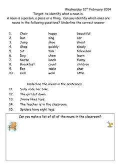 english grammar noun worksheet for grade 1 Luxury Noun Worksheet Year 1 by Teaching Resources Tes Proper Nouns Worksheet, Plurals Worksheets, Worksheets For Class 1, First Grade Math Worksheets, English Grammar Worksheets, 1st Grade Math, Kindergarten Worksheets, Grade 1, Nouns And Pronouns