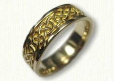 Celtic Murphy Knot Wedding rings in white gold, platinum, yellow gold & two tone - create Your wedding rings - make your dream wedding rings a reality! Celtic Wedding Bands, Wedding Ring Bands, Celtic Rings, Celtic Knot, Wedding Men, Ring Designs, Jewelry Rings, Knots, White Gold