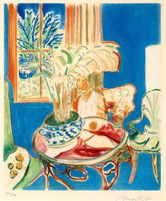 'Petit Intérieur Bleu', 1952 - Matisse
