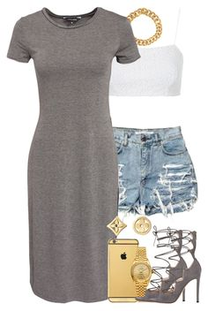 """""""Untitled #1339"""" by power-beauty ❤ liked on Polyvore featuring Topshop, Yves Saint Laurent, New Look, Goldgenie, Rolex, Gianvito Rossi and Louis Vuitton"""