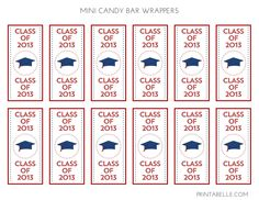 Free printable graduation chocolate candy wrapper for Free printable graduation candy bar wrappers templates