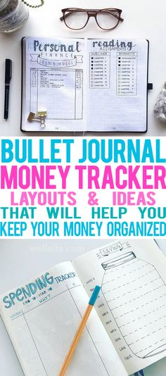 bullet journal money tracker ideas to help keep money organized #bujo #savemoney #diy