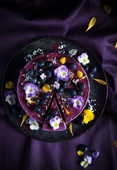Rich in purple - vegan no bake blueberry lemon cheesecake | call me cupcake.