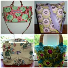 These four bags are free tutorials on my blog. Go to www.sewchristine.org and click on free tutorials.