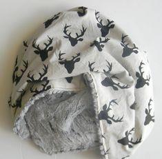 "Large Minky Baby Blanket- Baby Boy Blanket- Black Stag Rustic- Black and Grey- Nursery Blanket- Size 41 x 35"""