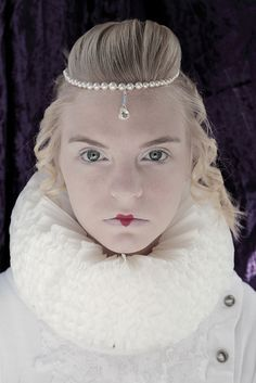 Reese in Handmade Coffee Filter Elizabethan Ruff Collar Portrait by Pink Sherbet Photography, via Flickr
