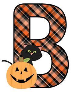 Halloween Eve, Holidays Halloween, Halloween Pumpkins, Halloween Crafts, Happy Halloween, Halloween Decorations, Halloween Tricks, Alphabet Print, Monogram Alphabet